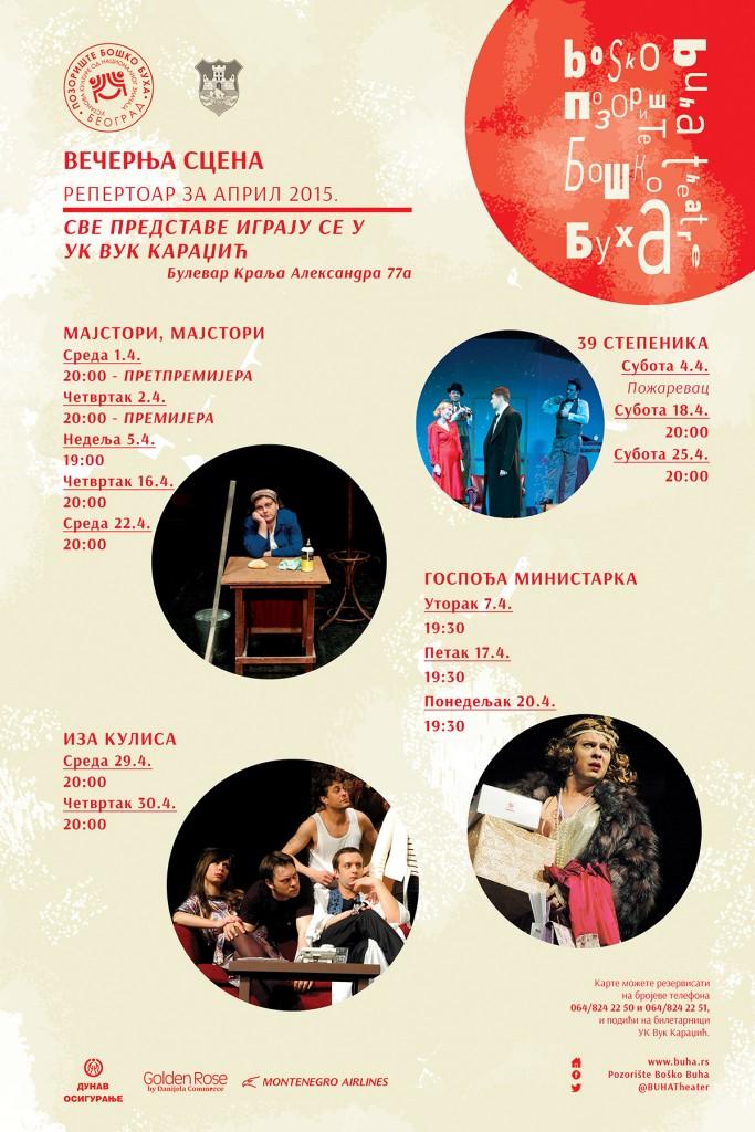Boško Buha repertoar april