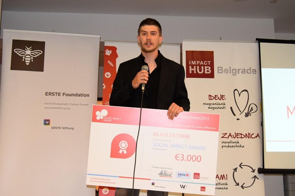 Prva nagrada projekat Mladi za stare Pirot, Social Impact Award
