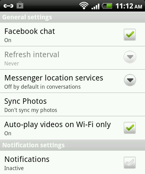 android-fb-settings