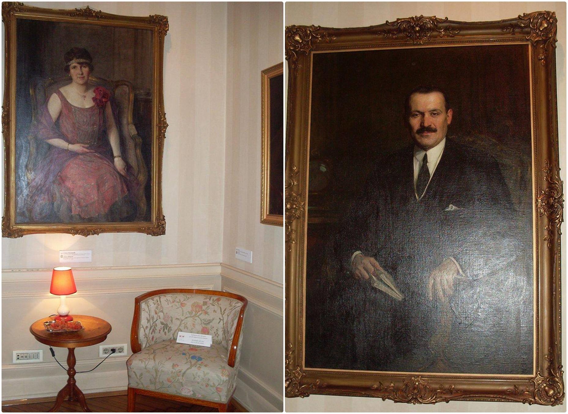 Portret Jelene i Milana Milojevića, slika Paje Jovanovića. / Foto: Suzana Janković.
