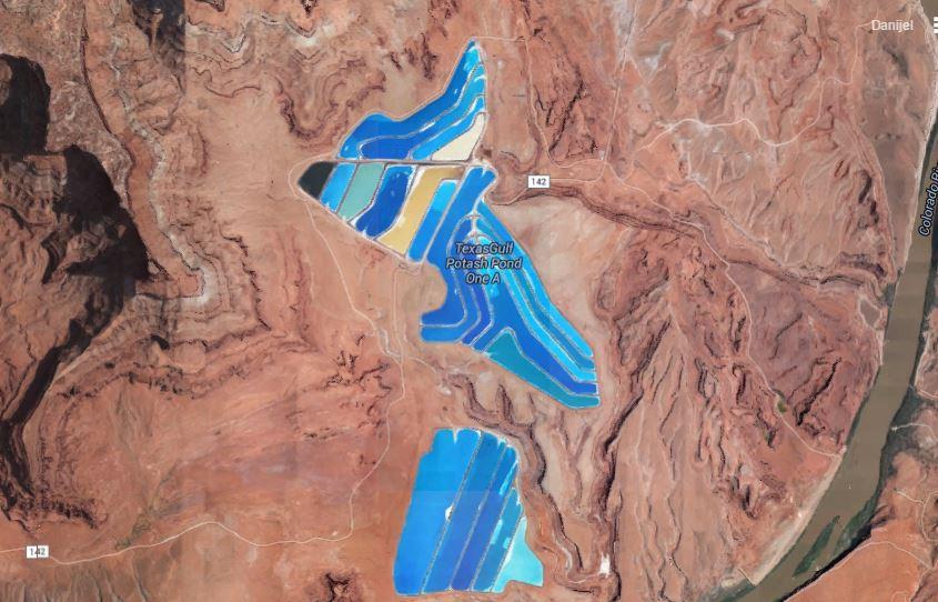 Moab na google mapama. Izvor: google maps