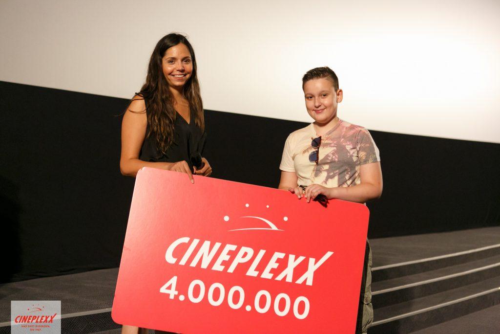 Aleksandar Rakić, Cineplexx, 4milioniti posetilac