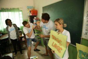 Ljubomir u školi u Mozambiku