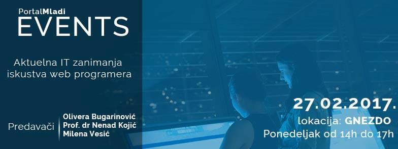 PMevents Aktuelna IT zanimanja iskustva web programera