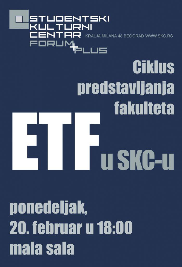 Ciklus predstavljanja fakulteta u SKC-u ETF