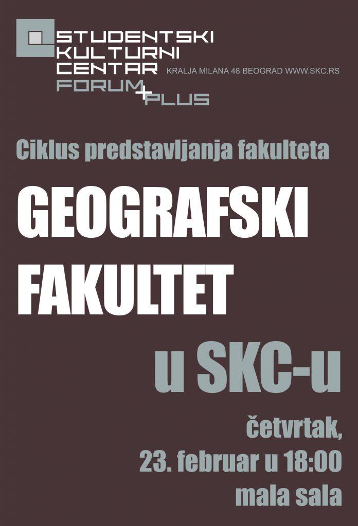 Ciklus predstavljanja fakulteta u SKC-u Geografski