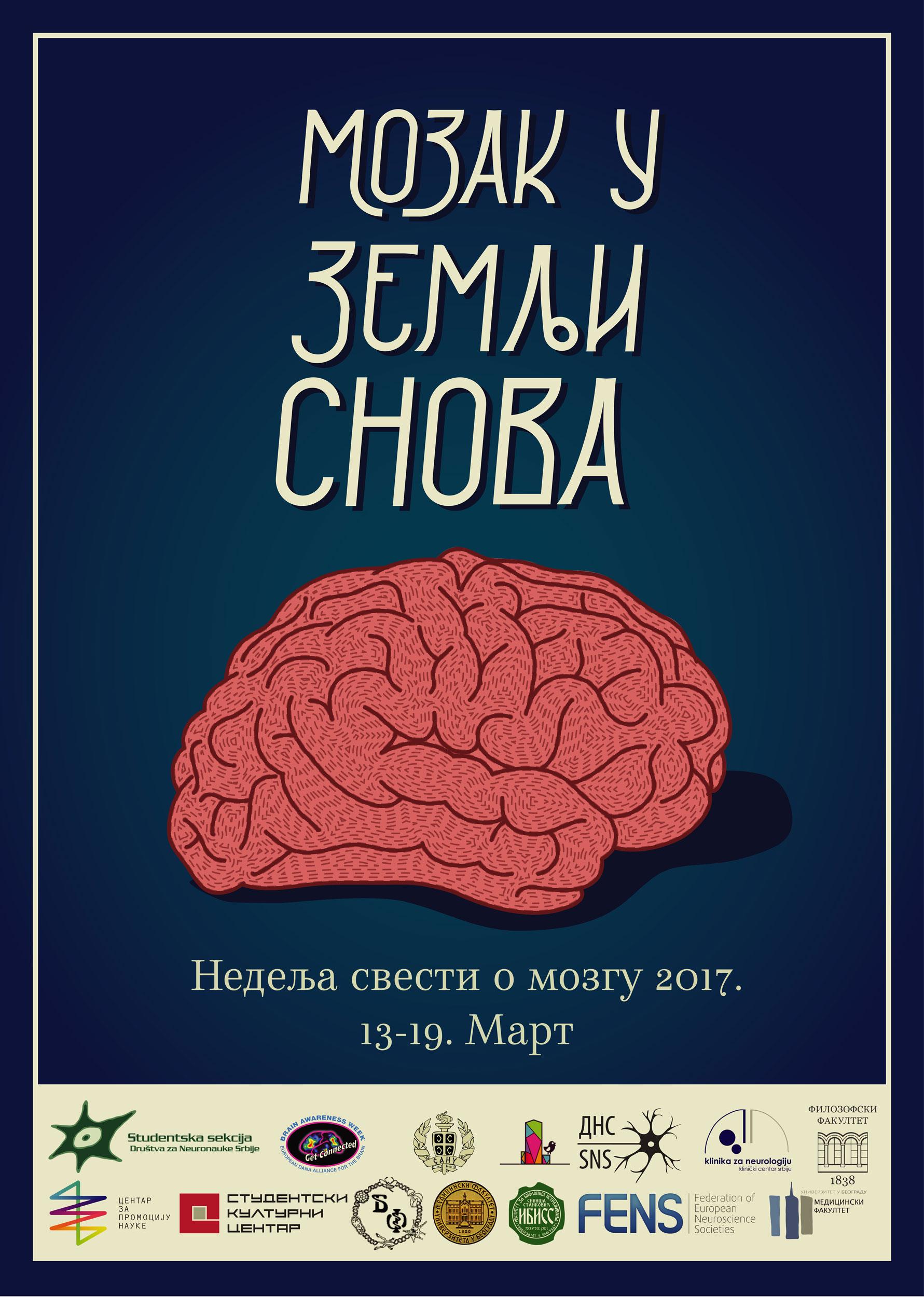 Mozak u zemlji snova - nedelja svesti o mozgu 2017.