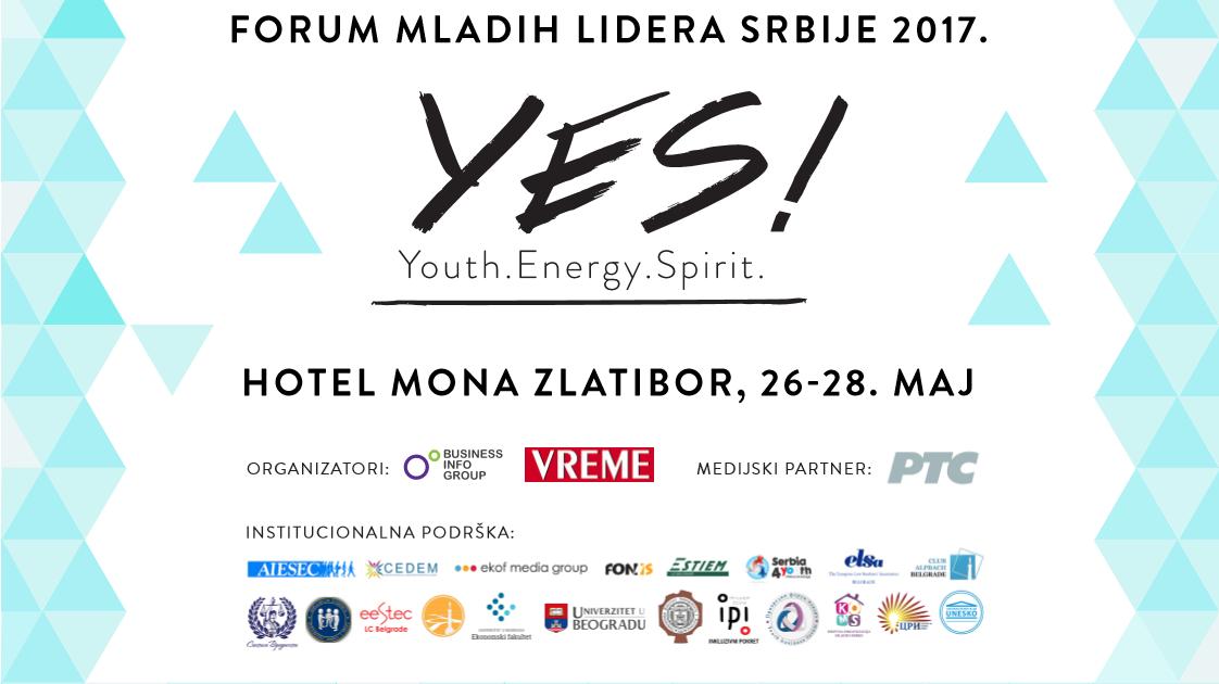 Forum mladih lidera Srbije YES! Youth. Energy. Spirit.