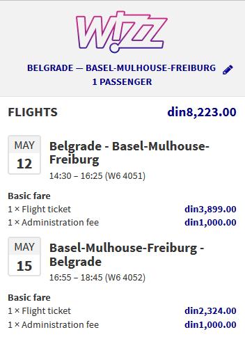 avio karte za Bazel